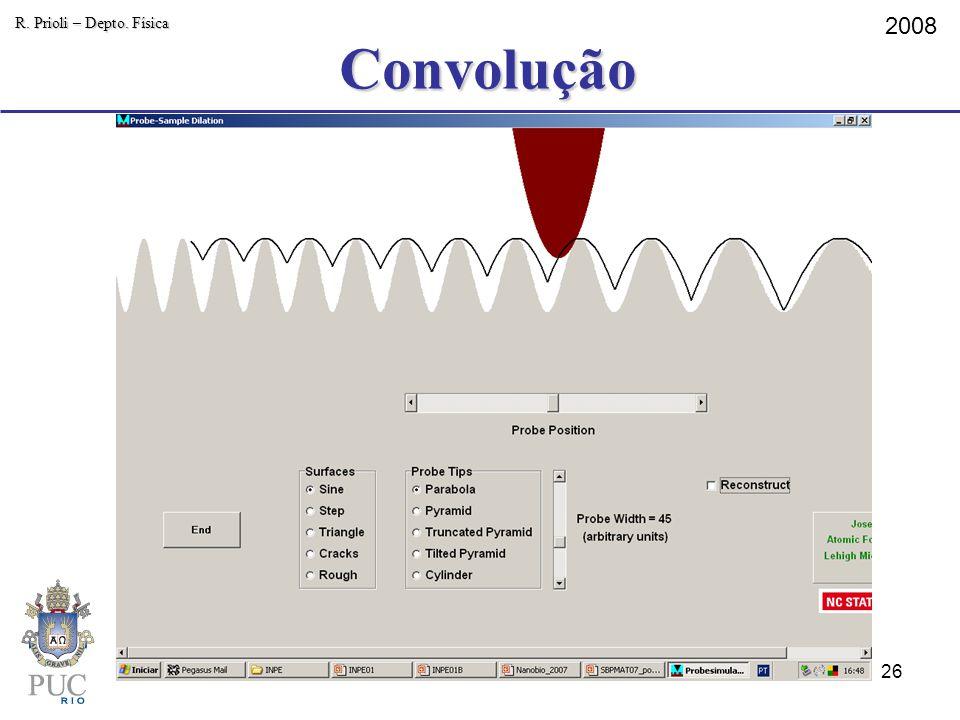 Convolução R. Prioli – Depto. Física 2008 26