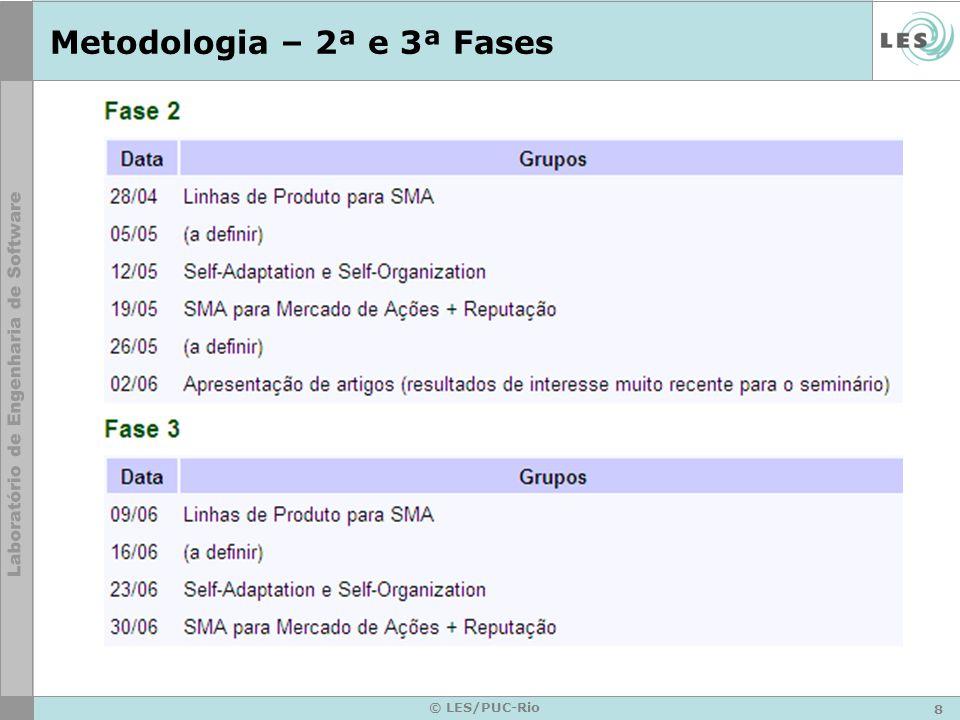 8 © LES/PUC-Rio Metodologia – 2ª e 3ª Fases