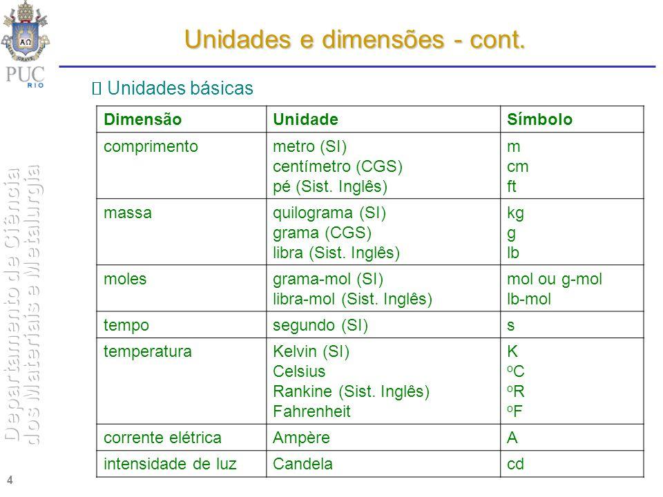 4 DimensãoUnidadeSímbolo comprimentometro (SI) centímetro (CGS) pé (Sist. Inglês) m cm ft massaquilograma (SI) grama (CGS) libra (Sist. Inglês) kg g l