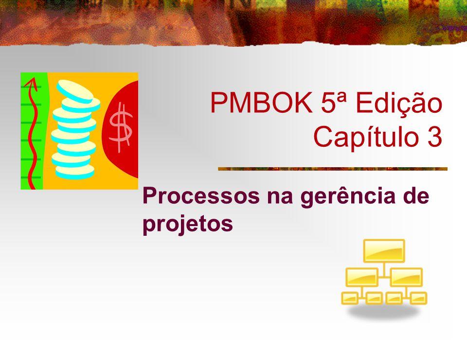 PMBOK 5ª Edição Capítulo 3 Processos na gerência de projetos