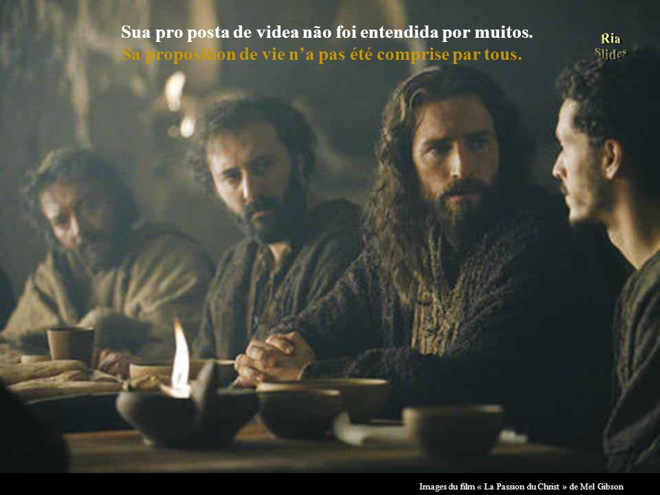 Images du film « La Passion du Christ » de Mel Gibson disposta a ser o maior exemplo de amor e verdade. disposé à être le meilleur exemple damour et d