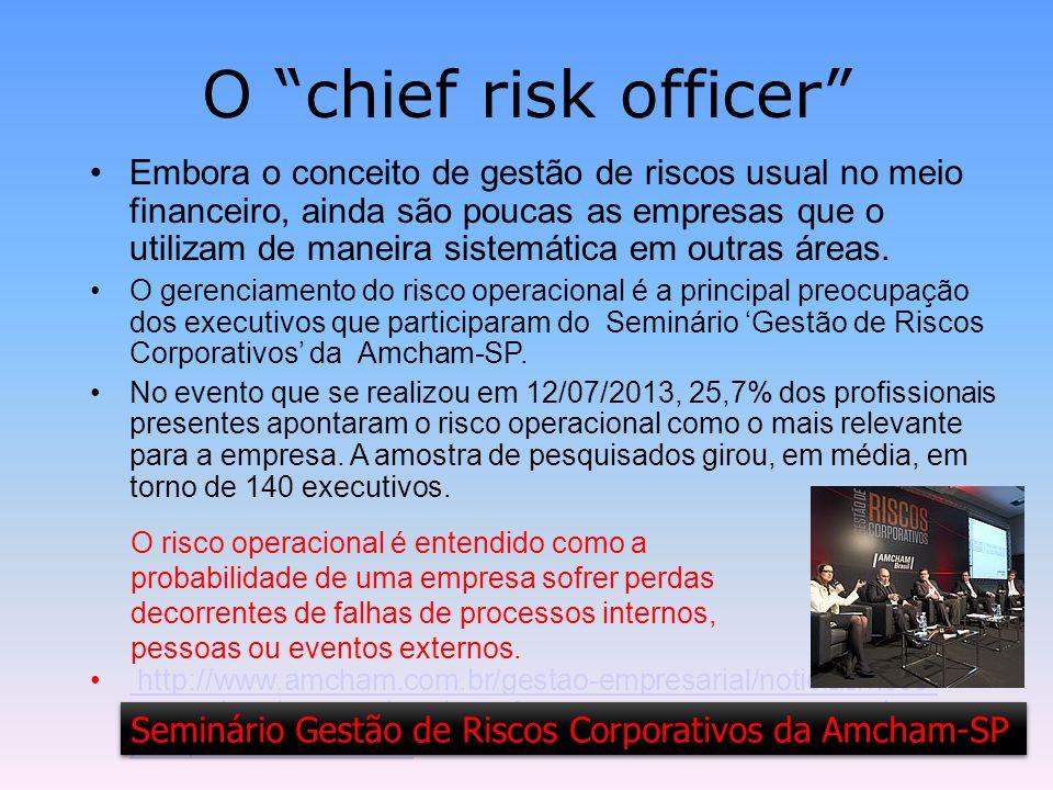 7 / 23 Gerenciamento de risco A aplicação do gerenciamento de riscos, na prática, pode variar muito de uma empresa para outra.