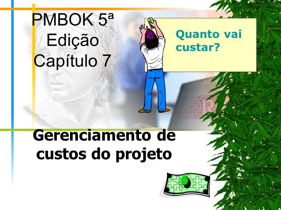 PMBOK 5ª Edição Capítulo 7 Gerenciamento de custos do projeto Quanto vai custar?