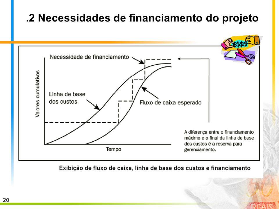 20.2 Necessidades de financiamento do projeto