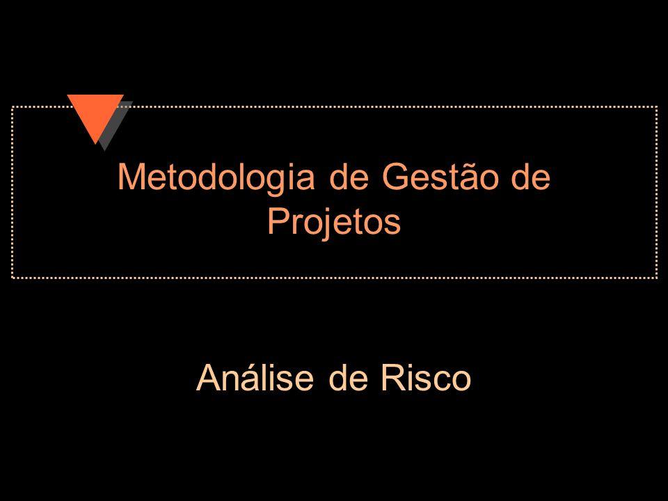 Metodologia de Gestão de Projetos Análise de Risco