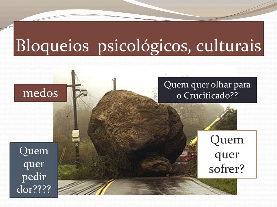 Bloqueios psicológicos, culturais Quem quer pedir dor???.