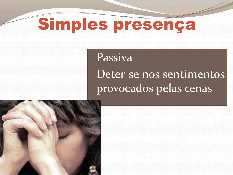 Simples presença Passiva Deter-se nos sentimentos provocados pelas cenas