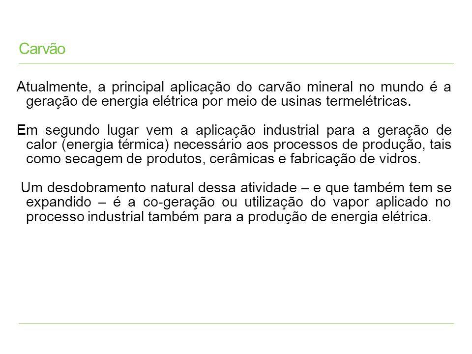Carvão Pulverizado (PF); Usinas Supercríticas e Ultra Supercríticas ; Combustão em Leito Fluidizado; Gaseificação lntegrada com Ciclo Combinado; Processos de Produção de Energia Elétrica (Carvão Mineral)