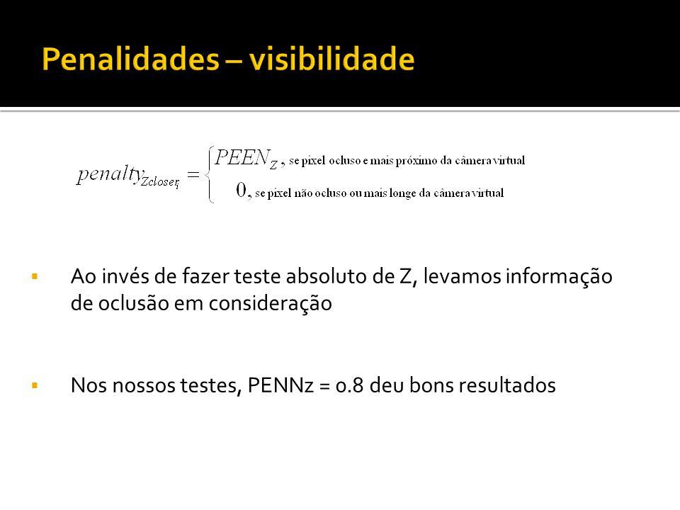 Ao invés de fazer teste absoluto de Z, levamos informação de oclusão em consideração Nos nossos testes, PENNz = 0.8 deu bons resultados