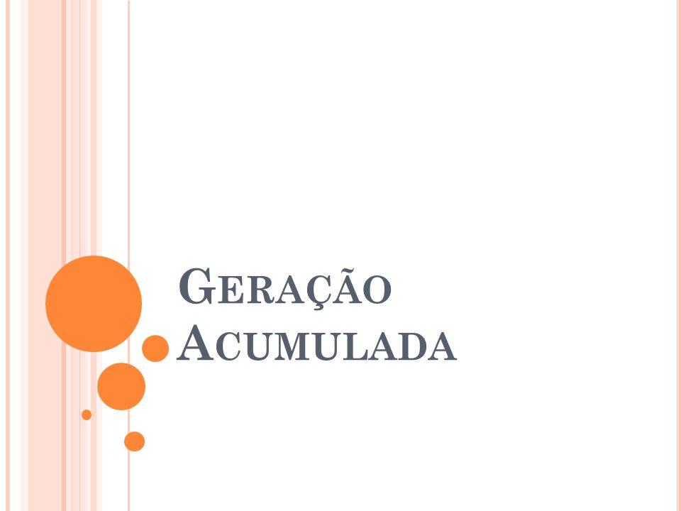 G ERAÇÃO A CUMULADA