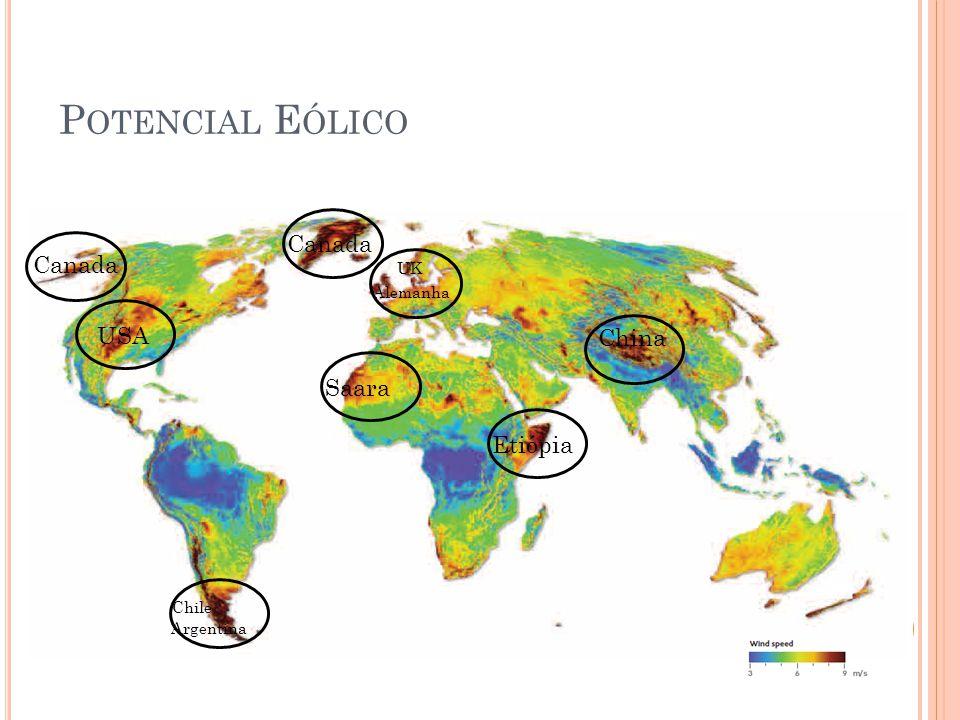 USA Canada Chile Argentina Saara UK Alemanha China Etiópia