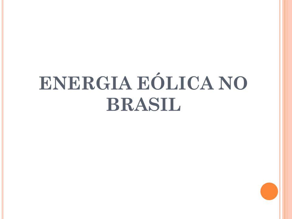 ENERGIA EÓLICA NO BRASIL