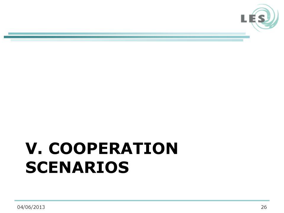 V. COOPERATION SCENARIOS 2604/06/2013