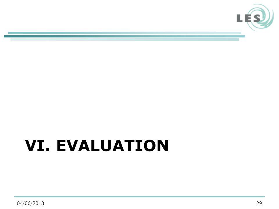 VI. EVALUATION 2904/06/2013