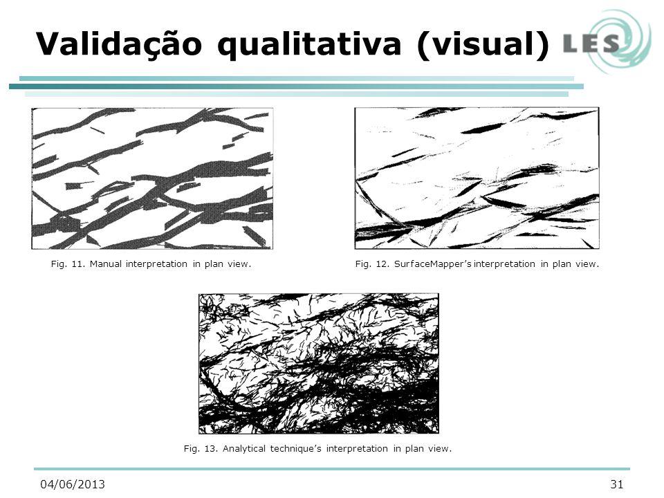 Validação qualitativa (visual) 31 Fig. 11. Manual interpretation in plan view.Fig. 12. SurfaceMappers interpretation in plan view. Fig. 13. Analytical