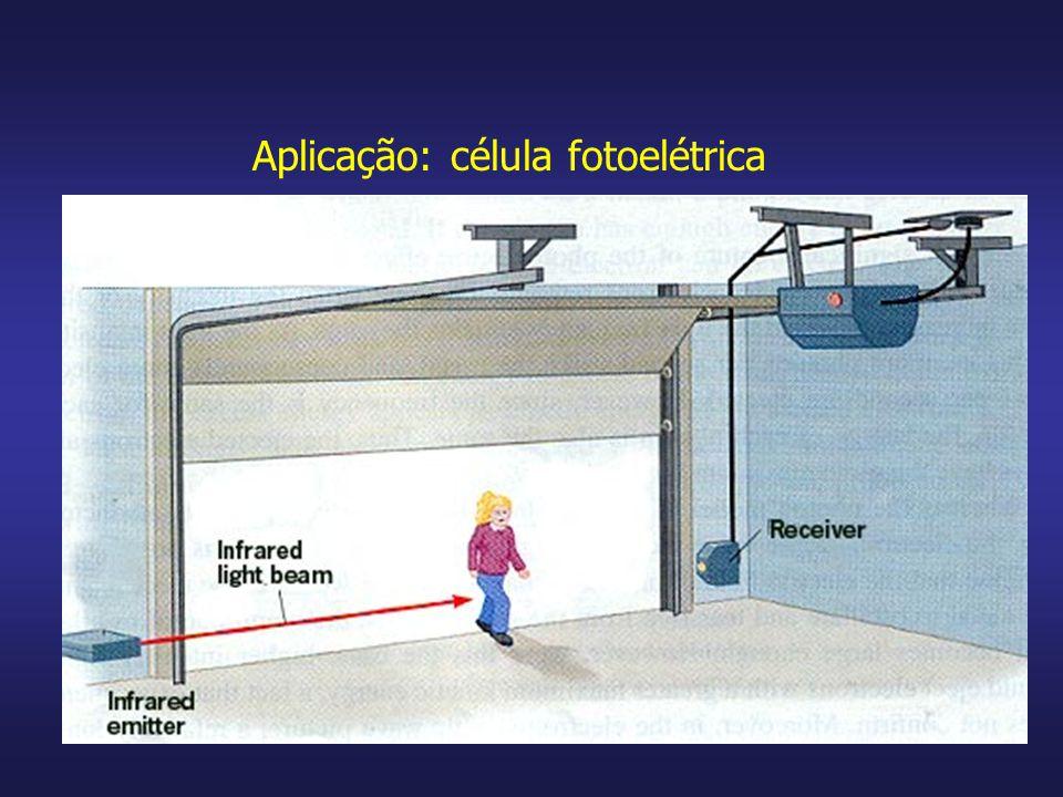 Aplicação: célula fotoelétrica