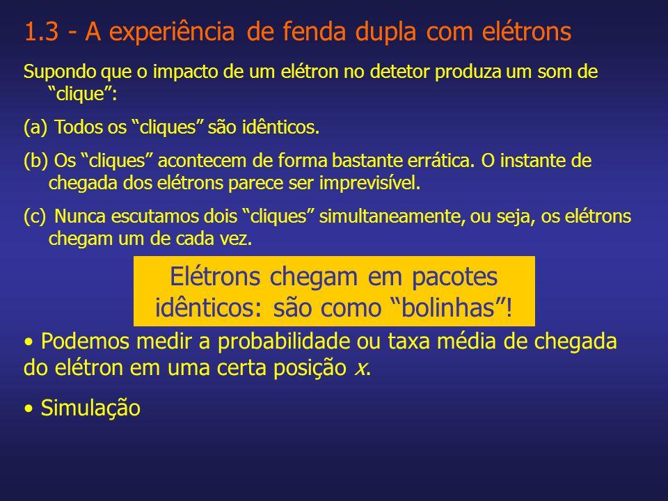 Elétrons apresentam interferência!!.