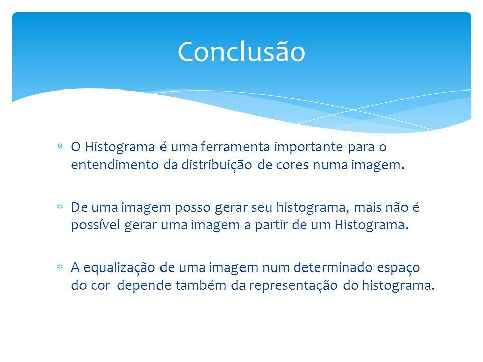 O Histograma é uma ferramenta importante para o entendimento da distribuição de cores numa imagem.