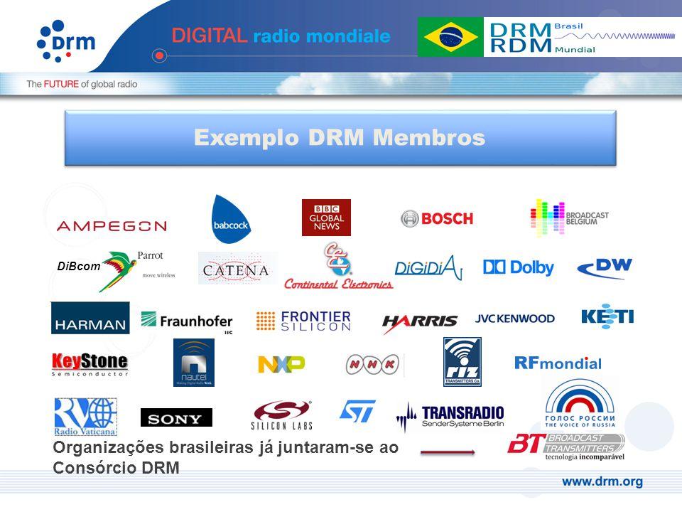 Organizações brasileiras já juntaram-se ao Consórcio DRM DiBcom Exemplo DRM Membros