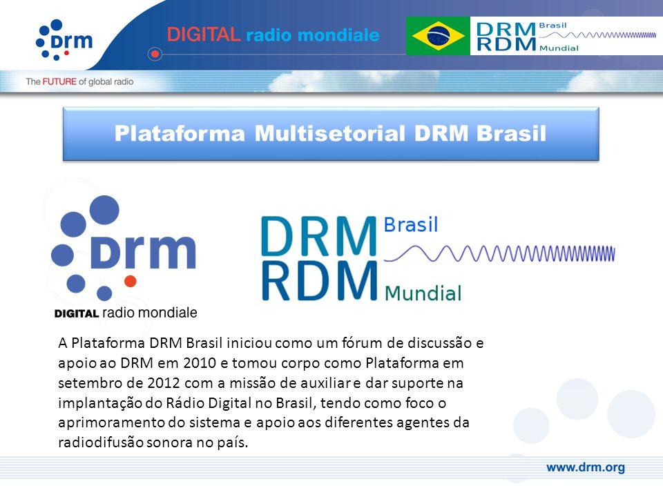 A Plataforma DRM Brasil iniciou como um fórum de discussão e apoio ao DRM em 2010 e tomou corpo como Plataforma em setembro de 2012 com a missão de au
