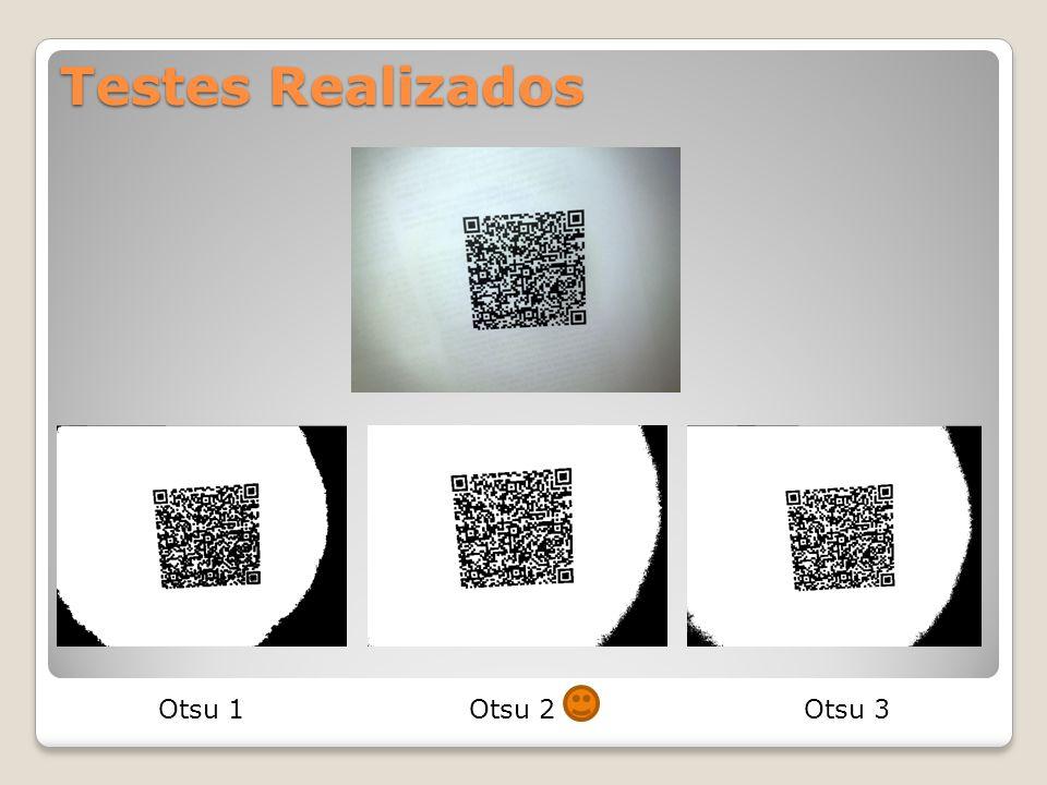 Resultados Rodando o Otsu3 que corresponde somente ao OtsuBinarization teve melhores resultados do que os outros testes que transformavam a imagem para cinza ou passava o filtro de Gauss.