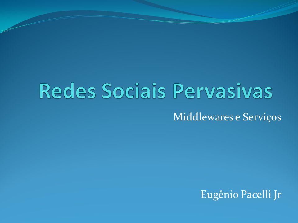 Sumário Taxonomia Exemplos de Redes Sociais Pervasivas disponíveis Proposta de middleware Comparação Conclusão