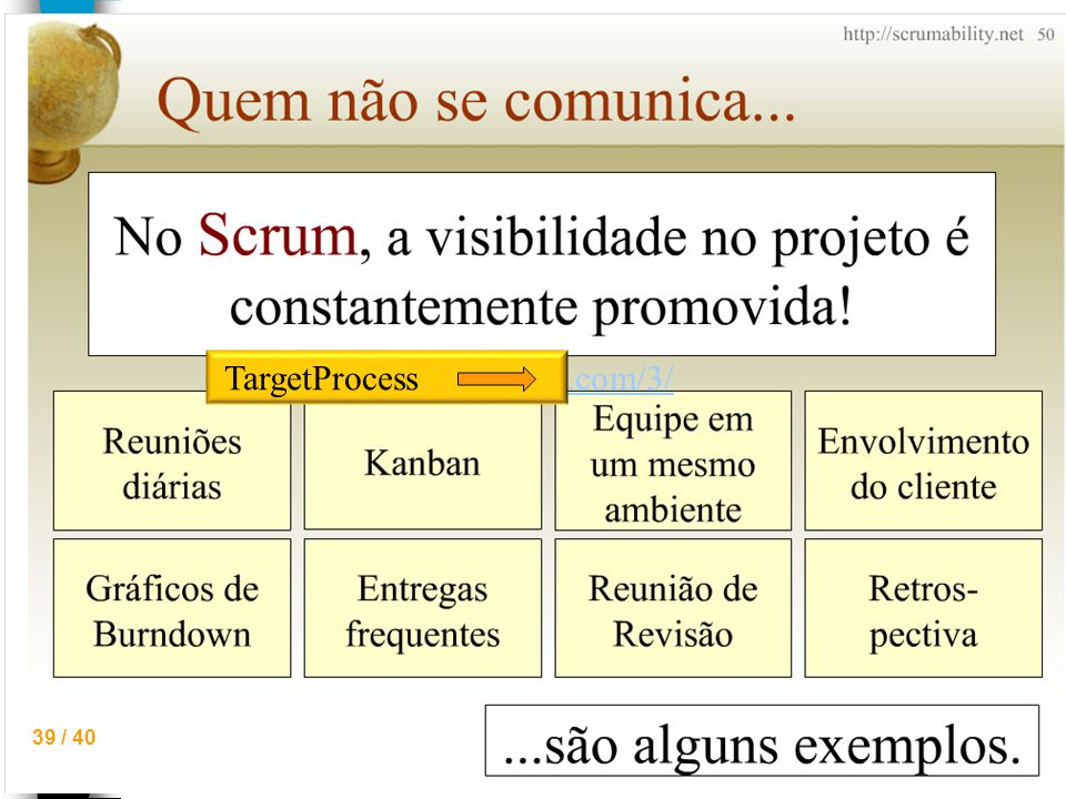 39 / 40 http://www.targetprocess.com/3/ TargetProcess