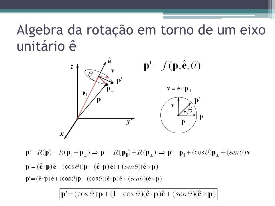 Matriz de rotação em torno de um eixo ê x y z