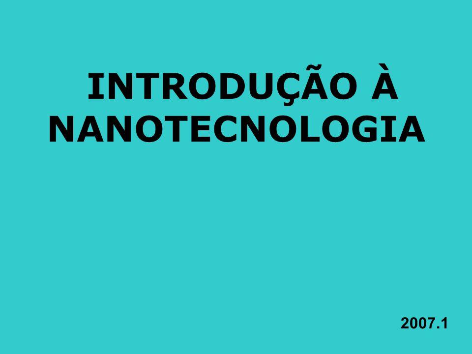 INTRODUÇÃO À NANOTECNOLOGIA 2007.1
