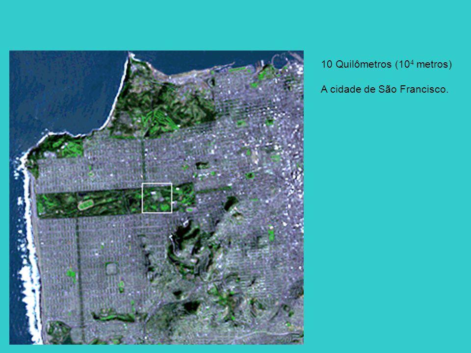 10 Quilômetros (10 4 metros) A cidade de São Francisco.