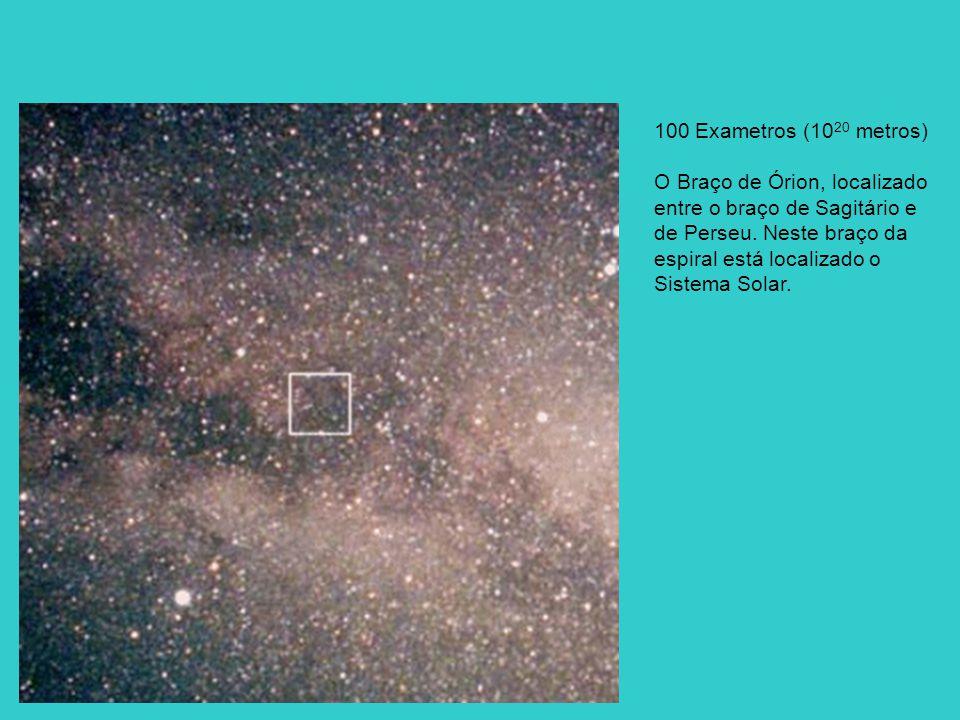 100 Exametros (10 20 metros) O Braço de Órion, localizado entre o braço de Sagitário e de Perseu.