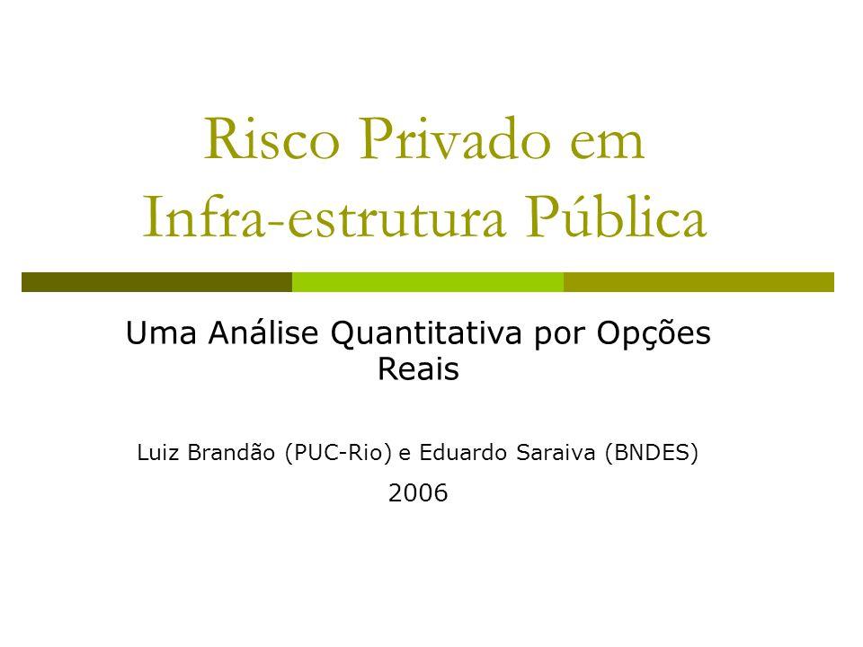 Risco Privado em Infra-estrutura Pública Uma Análise Quantitativa por Opções Reais Luiz Brandão (PUC-Rio) e Eduardo Saraiva (BNDES) 2006