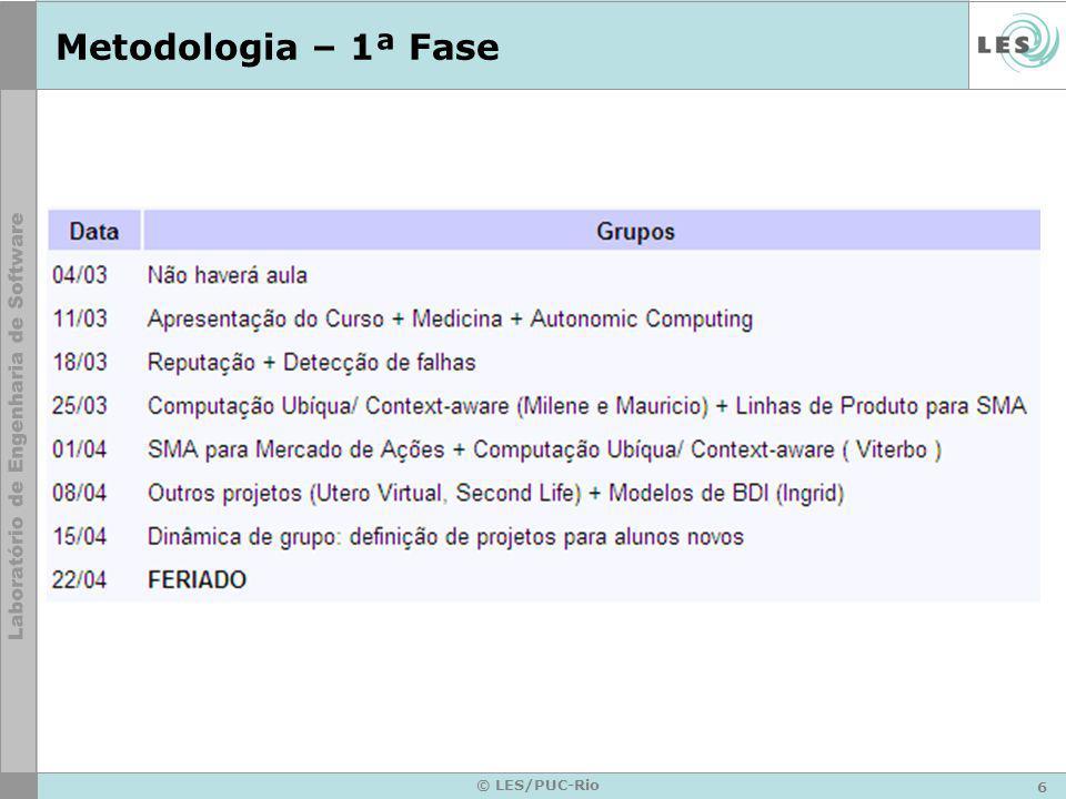 7 © LES/PUC-Rio Metodologia – 2ª e 3ª Fases