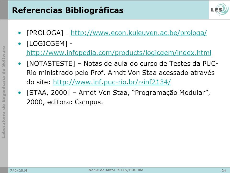 Referencias Bibliográficas [PROLOGA] - http://www.econ.kuleuven.ac.be/prologa/http://www.econ.kuleuven.ac.be/prologa/ [LOGICGEM] - http://www.infopedi