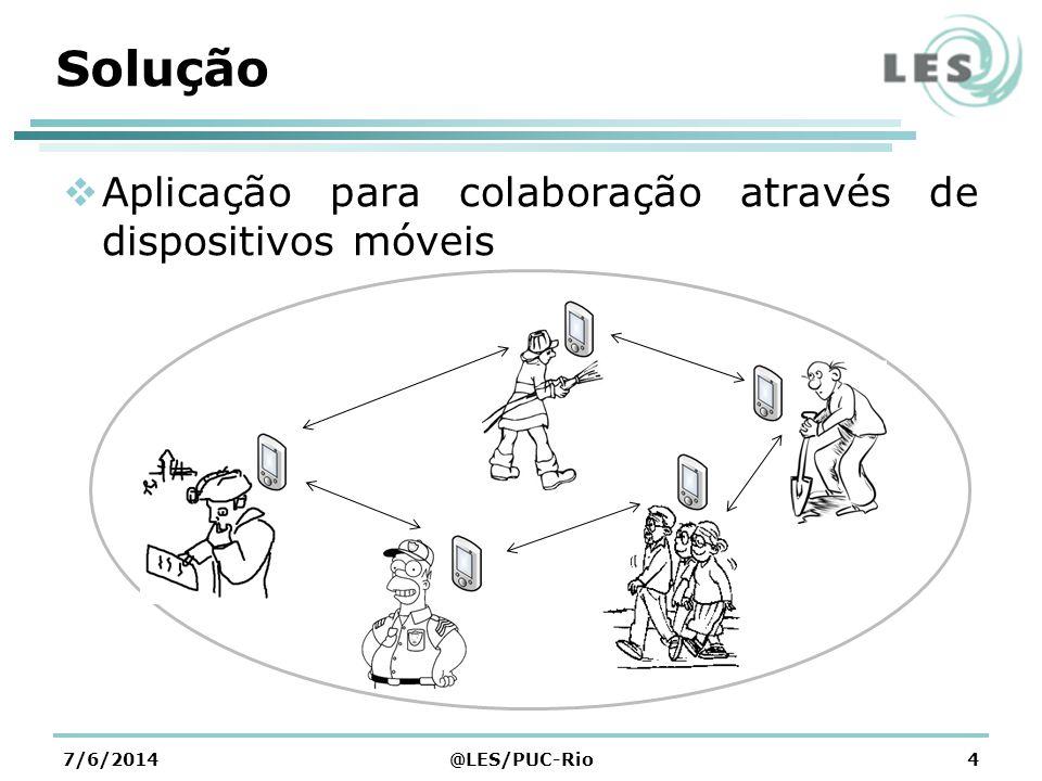 Segundo Problema Dados estariam disponíveis para todos os usuários 7/6/2014@LES/PUC-Rio5