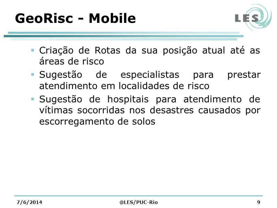 Arquitetura da Aplicação 7/6/2014@LES/PUC-Rio10