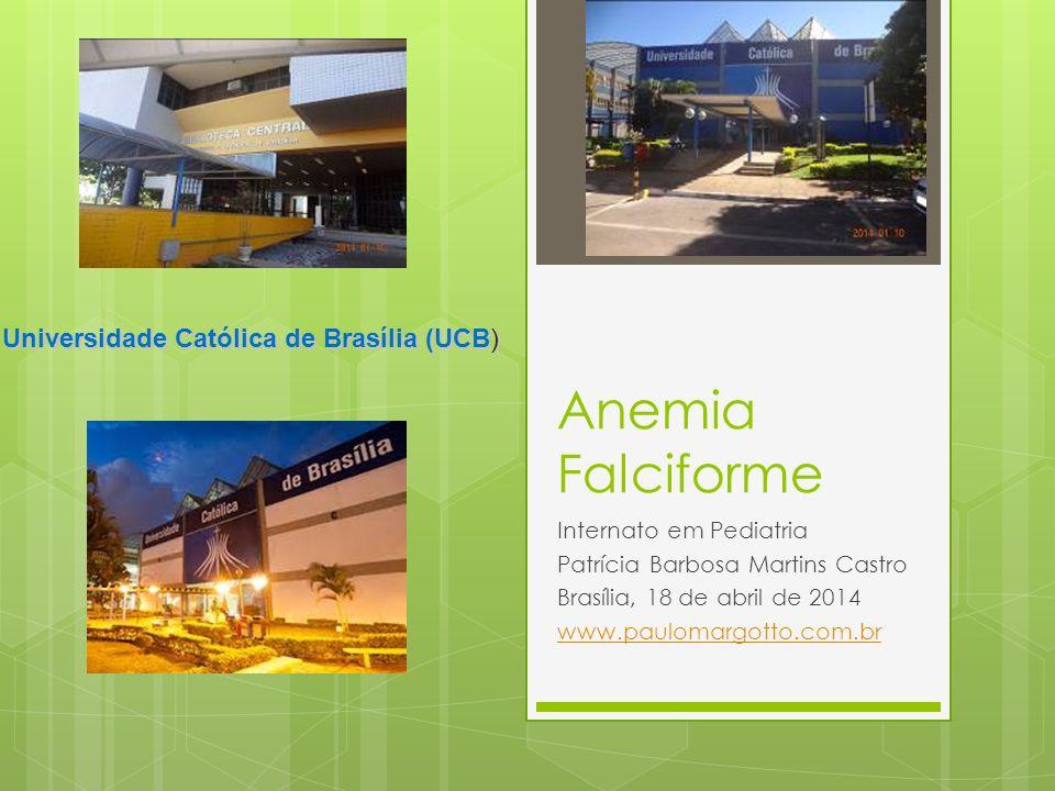 Anemia Falciforme Internato em Pediatria Patrícia Barbosa Martins Castro Brasília, 18 de abril de 2014 www.paulomargotto.com.br Universidade Católica