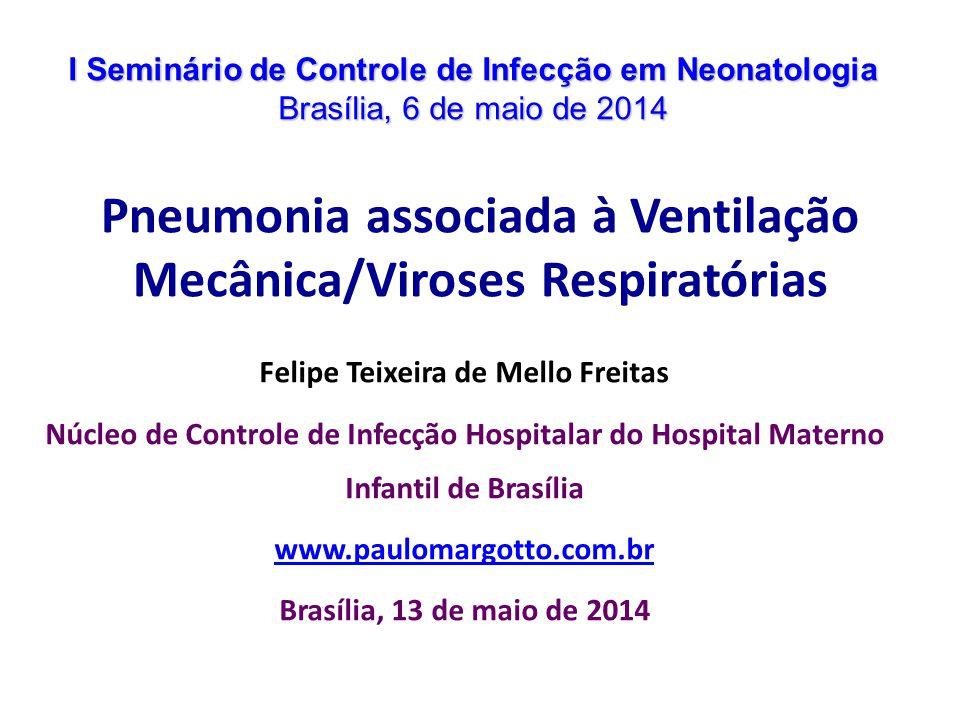 Transmissão Eliminação de gotículas de um adulto (visitante ou profissional) que contamina diretamente um RN ou o ambiente Infecções oligossintomáticas em adultos e RN e longo período de excreção viral no RN O risco é maior no período de sazonalidade das viroses respiratórias na comunidade