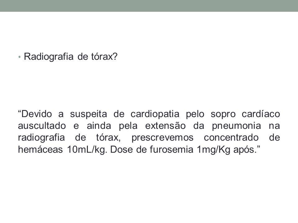 Radiografia de tórax.