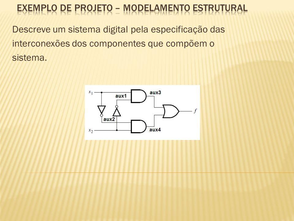 Descreve um sistema digital pela especificação das interconexões dos componentes que compõem o sistema.
