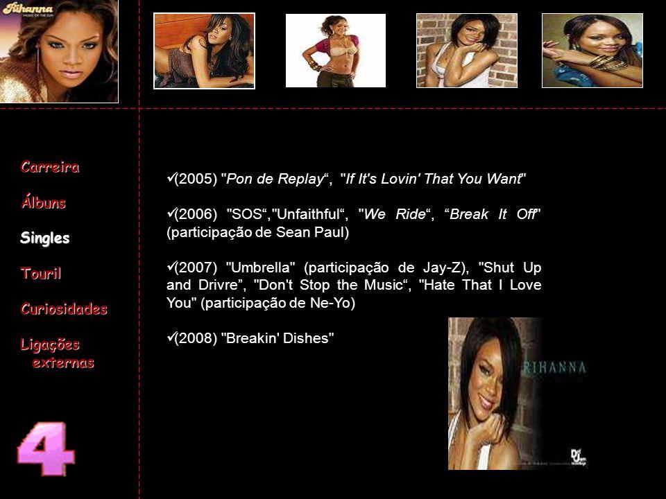 Pussycat Dolls With Rihanna - 2006 The Good Girl Gone Bad - 2007 Carreira Carreira Álbuns Álbuns Singres Singres tours tours Curiosidades Curiosidades Ligações externas Ligações externas
