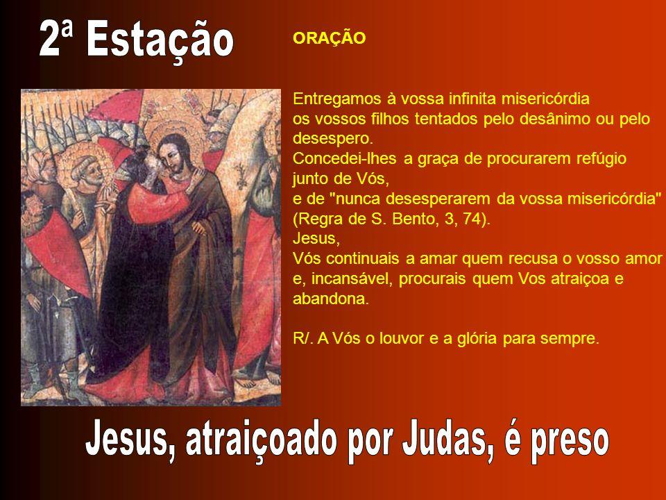 ORAÇÃO Jesus, Filho dilecto do Pai, aos tormentos sofridos na cruz junta-se o de ver junto de Vós a vossa Mãe abatida pela dor.