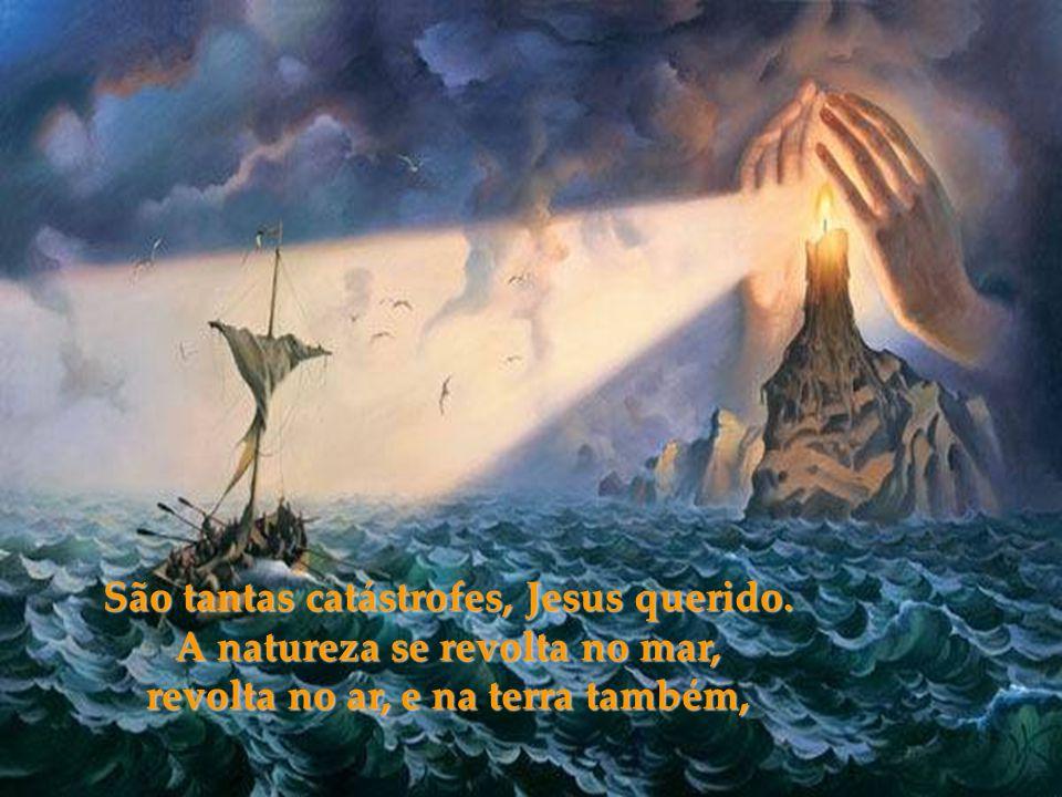 VOCÊ que veio ao mundo para nos salvar, sofreu, foi humilhado, e só deu amor, agora suplicamos veemente, não nos abandone, por favor!