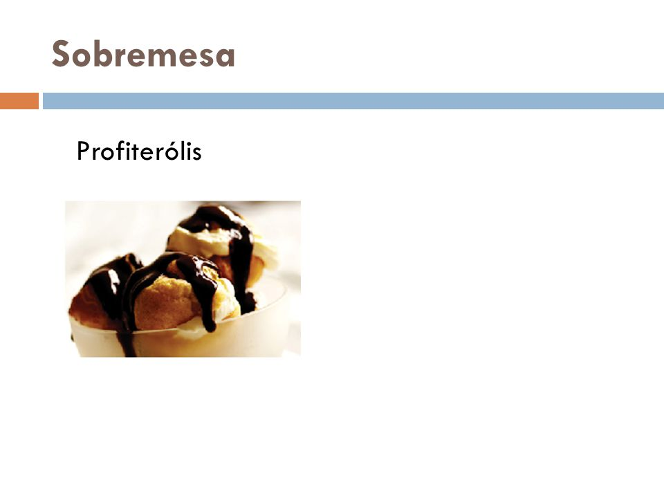 Sobremesa Profiterólis