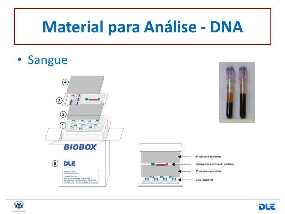 Material para Análise - DNA Sangue