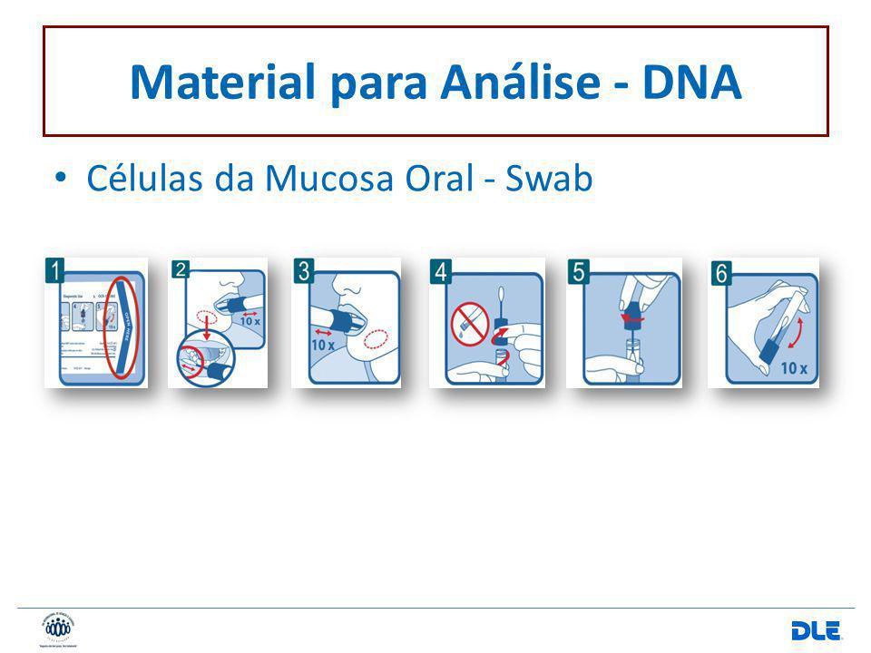 Material para Análise - DNA Células da Mucosa Oral - Swab
