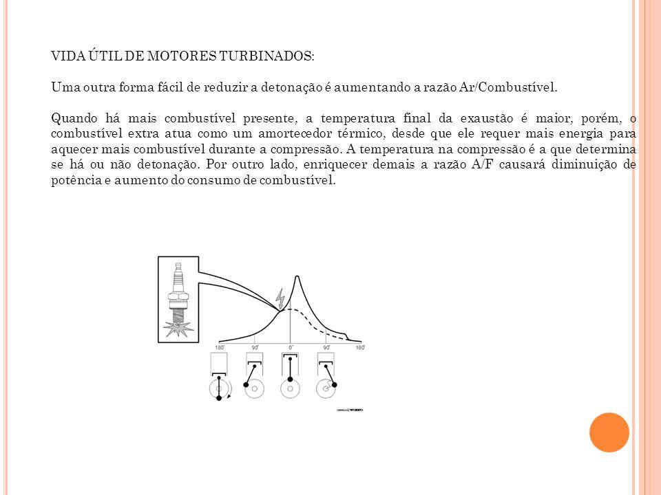 VIDA ÚTIL DE MOTORES TURBINADOS: Uma outra forma fácil de reduzir a detonação é aumentando a razão Ar/Combustível. Quando há mais combustível presente