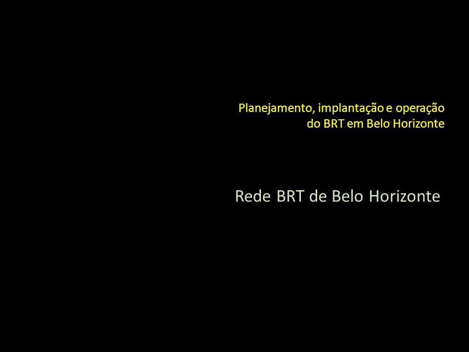 Planejamento, implantação e operação do BRT em Belo Horizonte Rede BRT de Belo Horizonte