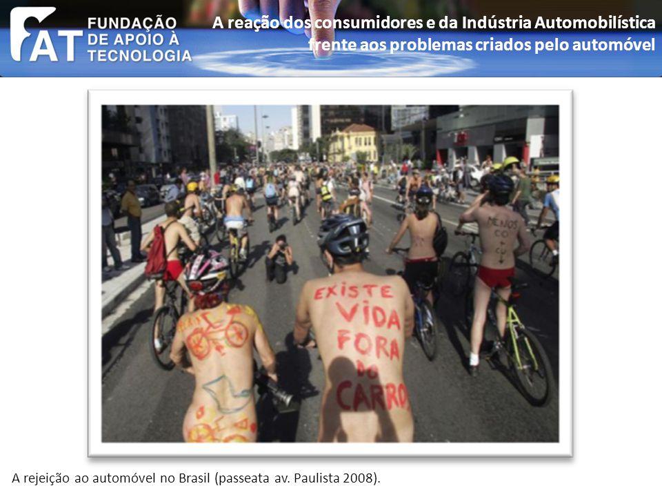 A rejeição ao automóvel no Brasil (passeata av. Paulista 2008).