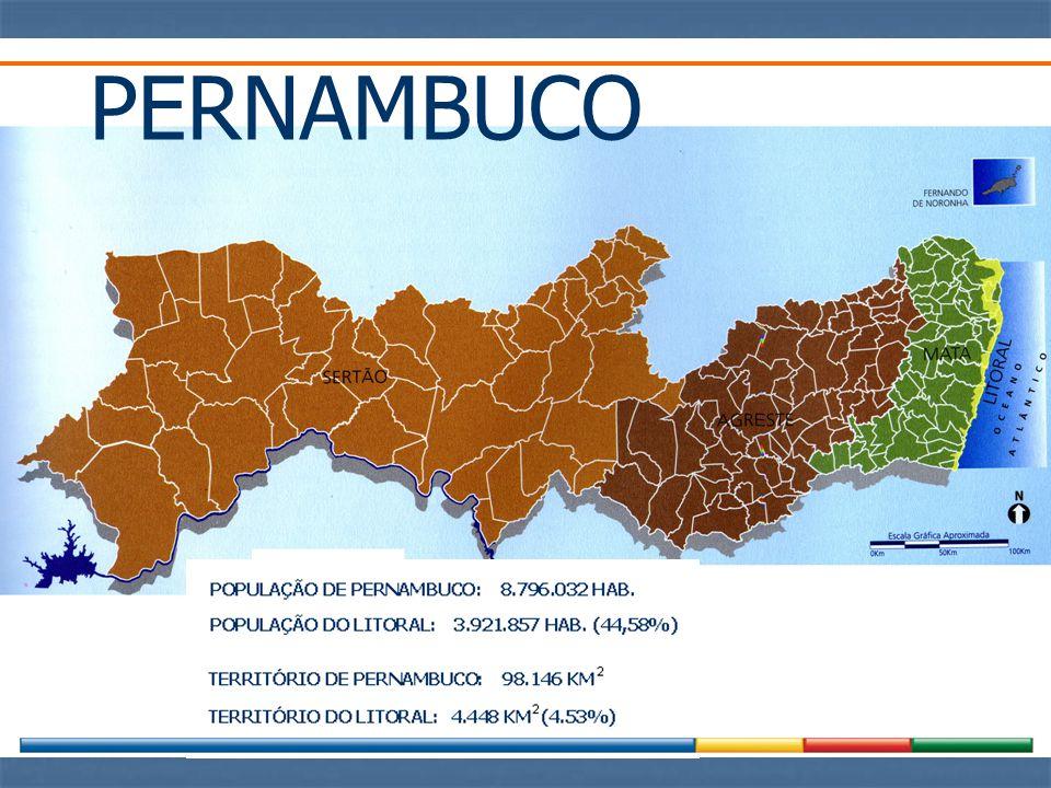 DENSIDADE POPULACIONAL NA ZONA COSTEIRA PE – 913 hab.km -2 PB – 373 hab.km -2 CE – 252 hab.km -2 MA – 29 hab.km -2 AP – 2 hab.km -2 BA – 96 hab.km -2 RJ – 806 hab.km -2 SP – 222 hab.km -2 RS – 24 hab.km -2 (*) Marroni & Asmus (2005)